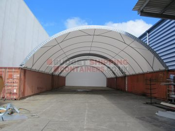 tandom shipping container canopy shelter